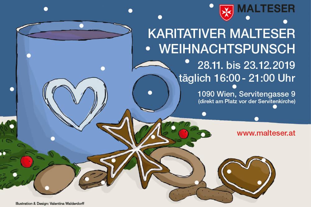 Punschstand Wien Servitenkirche Malteser Wien