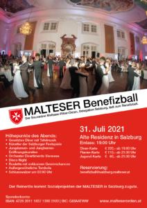 Entwurf Plakat Benefizball Salzburg A3 2021