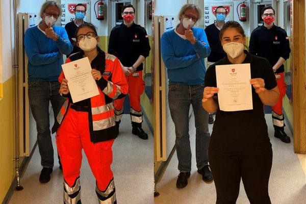 Malteser Tirol neue Rettungssanitaeter TB