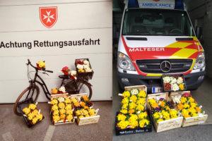 Malteser Tirol Blumengruss fuer Betreute Jaegerbauer 1