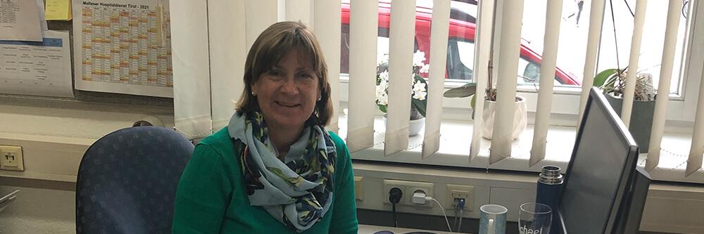 Malteser Tirol Danke an Monika Reitmeir Sekretariat Bereichszentrale BB