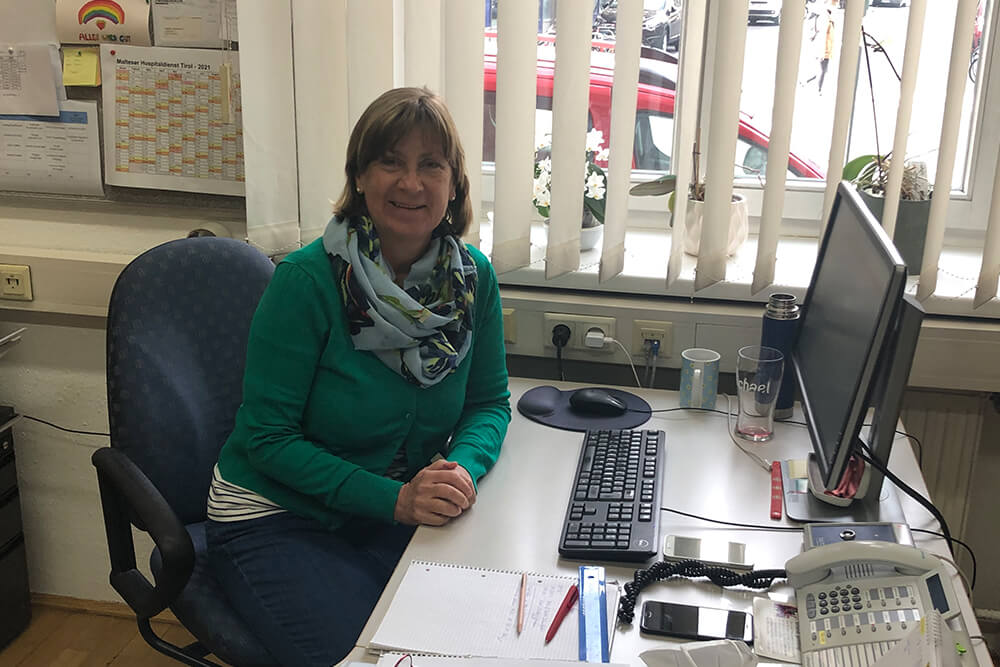 Malteser Tirol Danke an Monika Reitmeir Sekretariat Bereichszentrale 1